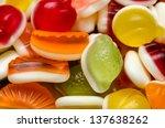 fruit jelly background | Shutterstock . vector #137638262