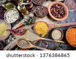 spices and seasonings for...   Shutterstock . vector #1376386865