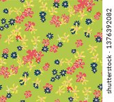 small floral seamless pattern... | Shutterstock .eps vector #1376392082