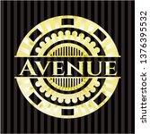 avenue gold shiny badge   Shutterstock .eps vector #1376395532