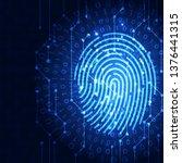 fingerprint integrated in a... | Shutterstock .eps vector #1376441315