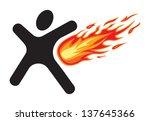 emergency exit  sign | Shutterstock .eps vector #137645366