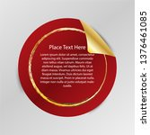 gradient tag  peel off sticker  ... | Shutterstock .eps vector #1376461085