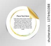 gradient tag  peel off sticker  ... | Shutterstock .eps vector #1376461088