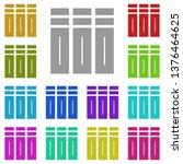 volumes  text multi color icon. ...