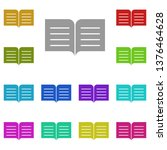 book  text multi color icon....