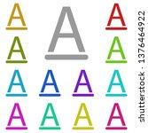 text  font multi color icon....