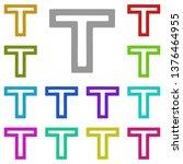 font multi color icon. simple...