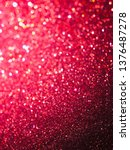 red glitter texture and bokeh... | Shutterstock . vector #1376487278