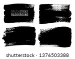 grunge brush painted spots.... | Shutterstock .eps vector #1376503388