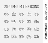 ambulance related vector icon... | Shutterstock .eps vector #1376540645