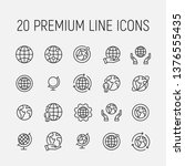 globe related vector icon set.... | Shutterstock .eps vector #1376555435