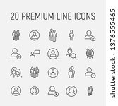 people related vector icon set. ... | Shutterstock .eps vector #1376555465