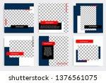 editable modern minimal square... | Shutterstock .eps vector #1376561075