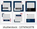 editable modern minimal square... | Shutterstock .eps vector #1376561078