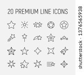 premium set of star line icons. ... | Shutterstock .eps vector #1376565938