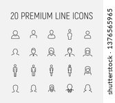 premium set of user line icons. ... | Shutterstock .eps vector #1376565965