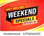 weekend special sale tag.... | Shutterstock .eps vector #1376566352