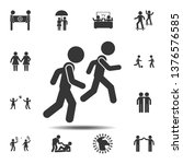 running with a friend icon....