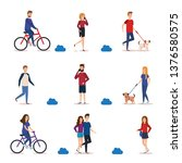 young people in the park...   Shutterstock .eps vector #1376580575
