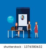 businesspeople with curriculum... | Shutterstock .eps vector #1376580632