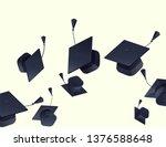 high school graduation hats... | Shutterstock .eps vector #1376588648