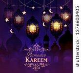 ramadan kareem  greeting...   Shutterstock .eps vector #1376603405