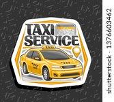 vector logo for taxi service ...   Shutterstock .eps vector #1376603462