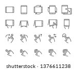 set of hand touchscreen gesture ... | Shutterstock .eps vector #1376611238