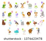 illustration of animal alphabet ... | Shutterstock .eps vector #1376623478