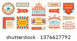Circus Labels. Carnival Retro...
