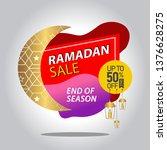 sales of ramadan kareem with... | Shutterstock .eps vector #1376628275