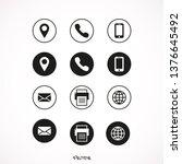 contact icon set vector   Shutterstock .eps vector #1376645492