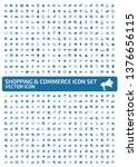 shopping vector icon set   Shutterstock .eps vector #1376656115