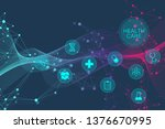 medical abstract background...   Shutterstock .eps vector #1376670995