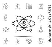 atomic energy icon. simple thin ...