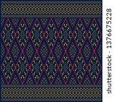 dark blue traditional silk of...   Shutterstock .eps vector #1376675228