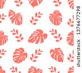 seamless pattern with tropical...   Shutterstock .eps vector #1376677298