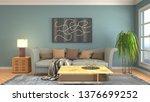 interior of the living room. 3d ... | Shutterstock . vector #1376699252