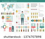 drink infographic. glass and... | Shutterstock .eps vector #1376707898
