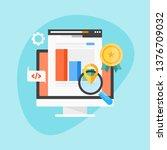 seo ranking  seo marketing...   Shutterstock .eps vector #1376709032
