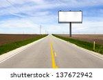 billboard on country road | Shutterstock . vector #137672942