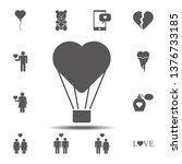 heart balloon icon. simple...