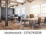 luxury coworking office... | Shutterstock . vector #1376742038