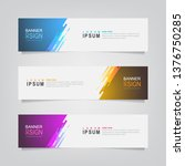 vector abstract banner design... | Shutterstock .eps vector #1376750285