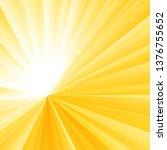 abstract light burst yellow... | Shutterstock .eps vector #1376755652