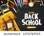back to school in black... | Shutterstock .eps vector #1376765525