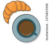 vector image of breakfast. a... | Shutterstock .eps vector #1376815448