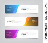 vector abstract banner design... | Shutterstock .eps vector #1376823698