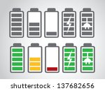 battery icon charge level | Shutterstock .eps vector #137682656